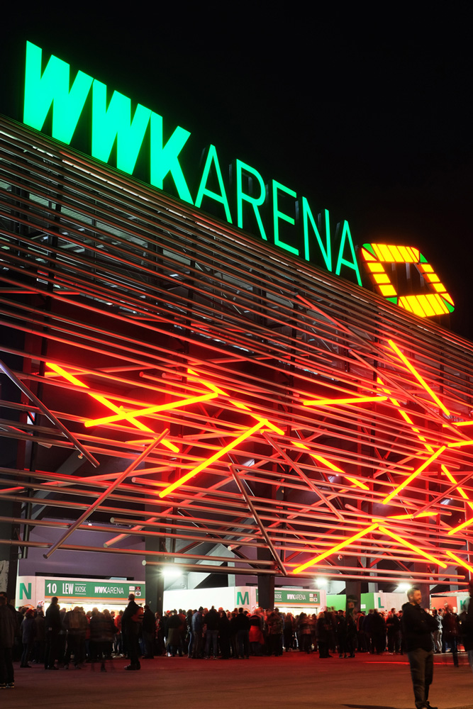 Intelligent lighting of the WWK Arena with the mavacon e.cloud